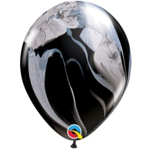 000135 – 12″ Agate Latex Balloon – Black & White ∣ 12寸瑪瑙乳膠氣球 – 黑白