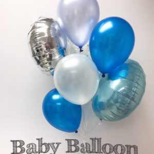 000102 – Light Balloon Bunch – BW2 (Blue & white theme) ∣ 輕量氣球組合 – BW2 (藍白主題)