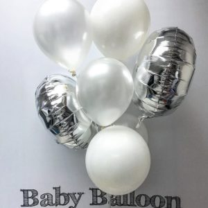 000104 – Light Balloon Bunch – SW2 (Silver & white theme) ∣ 輕量氣球組合 – SW2 (銀白色系)