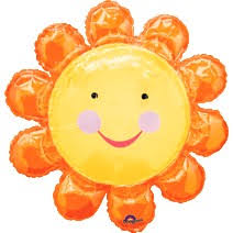 000386 – 35″ Orange Sunshine Sunflower Baby Foil Balloon ∣ 35寸 橙色太陽花 寶寶 鋁質氣球