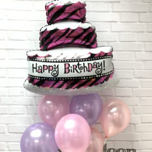 000390 – Happy Birthday Balloon Bunch –  Pink & Purple | 生日氣球組合 – 粉紅粉紫系列